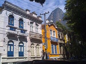 Humaitá, Rio de Janeiro - Rua Viuva Lacerda, Humaitá, Rio de Janeiro, Brazil. (Corcovado Mountain in the background).