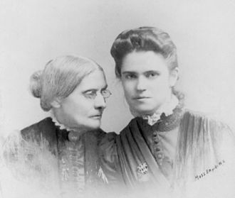 Rachel Foster Avery - Rachel Foster Avery (right) and Susan B. Anthony
