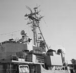 Radar arrangement aboard USS Bristol (DD-857) in December 1953.jpg
