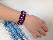 Rainbow Loom bracelet with beads