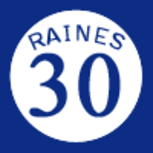 Tim Raines - Raines' uniform number 30 was retired by the Montreal Expos.