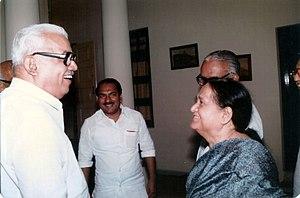 Ram Dulari Sinha - Ram Dulari Sinha with the leaders of Kerala