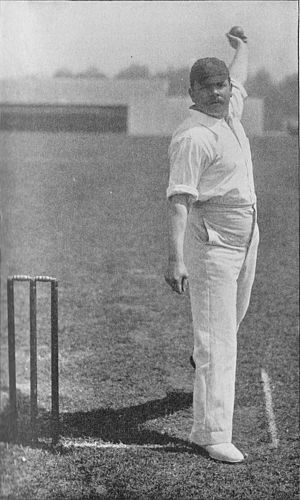 Johnny Briggs (cricketer) - Briggs bowling