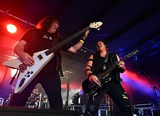 Raven (British band) - Raven performing live in 2017.