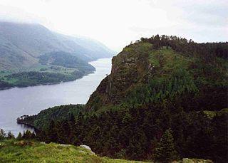 Raven Crag mountain in United Kingdom