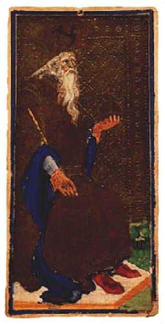 Visconti-Sforza tarot deck - Image: Re di spade