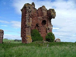 Red Castle, Angus - Ruins of the keep