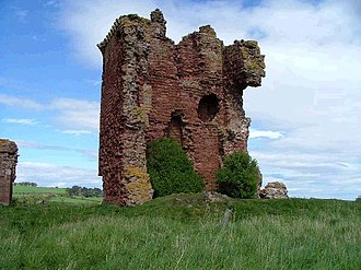 Lunan, Angus - Ruins of Redcastle, on the south bank of the Lunan Water, opposite Lunan