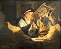 Rembrandt, la parabalo del ricco agricoltore (il cambiavalute), 1627, 02.JPG