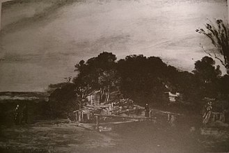 1972 Montreal Museum of Fine Arts robbery - Image: Rembrandt landscape with cottages stolen