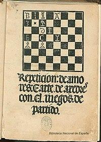 Repetición de amores; Arte de ajedrez 1496 Lucena.jpg
