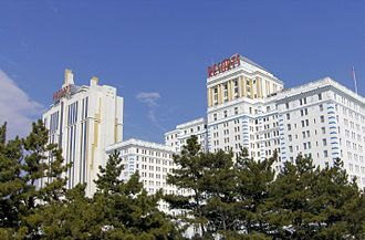 Resorts Casino Hotel - The two hotel towers at Resorts