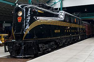 PRR GG1 4935 im Railroad Museum of Pennsylvania in Strasburg PA