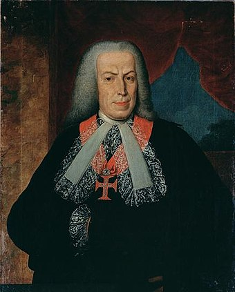The Marquis of Pombal, as the head of the government of Portugal, implemented sweeping socio-economic reforms (abolished slavery, significantly weakened the Inquisition, created the basis for secular public schools and restructured the tax system), effectively ruling as a powerful, progressive dictator Retrato do Marques de Pombal.jpg