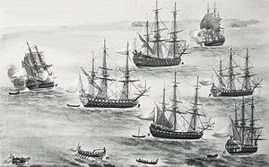 Jean-Frédéric Phélypeaux, Count of Maurepas - Naval parade organised by Maurepas