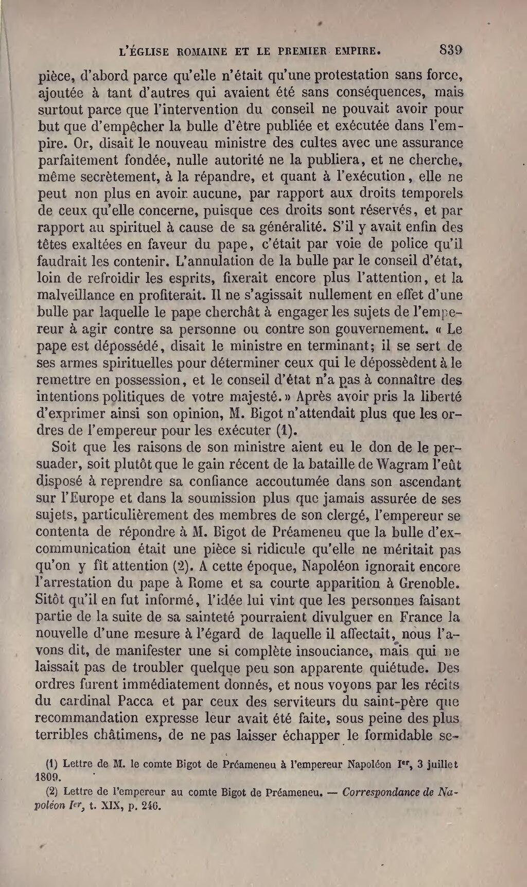 Correspondance de Napoléon Ier. Tome 15 -