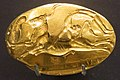 Ring, a male leaping over bull, Archanes, Crete, 1450-1375 BC. Gold, AshmoleanM, AE 2237, 142528 (cropped).jpg