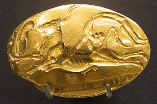 Theseus Ring Gold signet ring from the 15th century BC