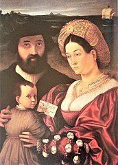 Family portrait of Giovannino of Bertolino Casotti