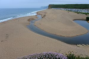 River Bride, Dorset - Mouth of the River Bride at Burton Bradstock