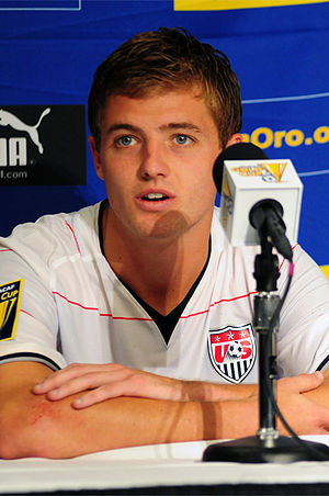 Robbie Rogers - Rogers in a press conference for the U.S. national team in 2009