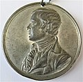 Robert Burns medallion. 1st centenary of the poet's birth. 1859. Obverse.jpg