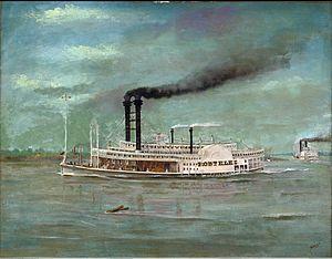 Robert E. Lee (steamboat) - Steamboat Robert E. Lee, by August Norieri