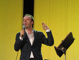 Roberto Benigni - Benigni on the stage of TuttoDante in Padua, June 2008.