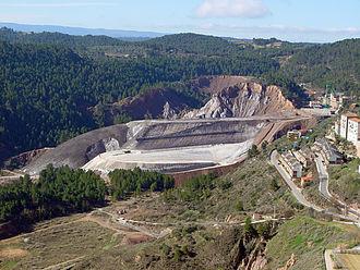 Cardona, Spain - Rock salt mine in Cardona