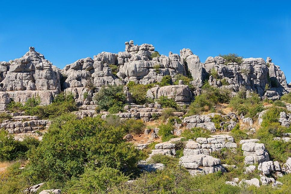 Rocks El Torcal de Antequera karst Andalusia Spain