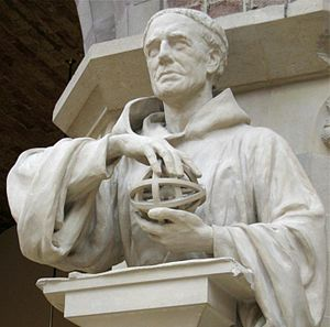 Statue of Roger Bacon in the Oxford University Museum
