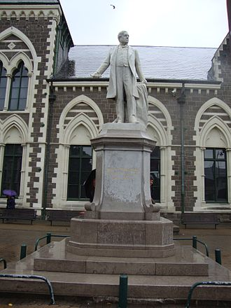Rolleston Statue - Rolleston Statue outside the Canterbury Museum in November 2010
