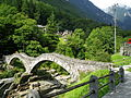 Roman era stone arch bridge, Ticino, Switzerland.JPG