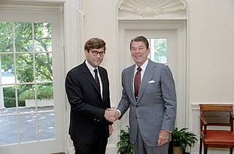 William Barr - Barr greeting President Ronald Reagan in 1983