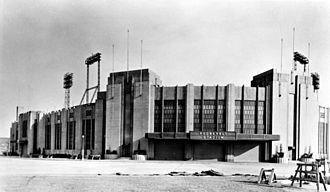 Roosevelt Stadium - Stadium entrance c. 1940