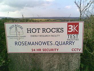 Rosemanowes Quarry - Sign to Rosemanowes Quarry