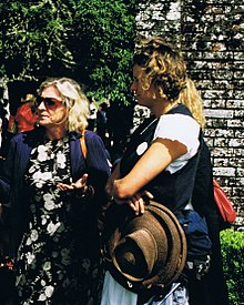 Rosie Boycott, and Severine von Tscharner Fleming, at the Port Eliot Lit Fest, July 2007.jpg