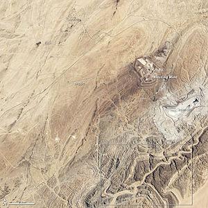 Rössing uranium mine - Image: Rossing mine and vicinity 2013