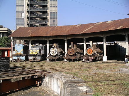 Roundhouse at Guatemala City Station with Diesel and Steam locomotives on February 14, 2007 Roundhose at Guatemala City Station.JPG