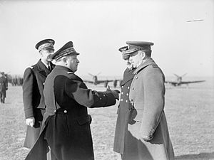 Joseph Vuillemin - Vuillemin talks with Air Marshal A S Barratt.