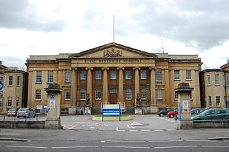 Royal Berkshire Hospital - The original frontage of the Royal Berkshire Hospital