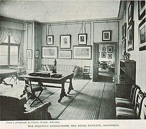 Royal Pavilion, Aldershot - Queen Victoria's sitting room in the Pavilion in 1900