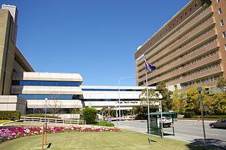 Royal Perth Hospital - Royal Perth Hospital from Wellington Street