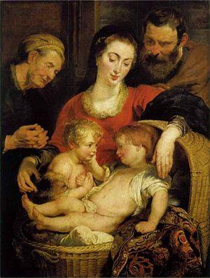 Madonna of the Basket (Rubens) - Image: Rubens, sacra famiglia, pitti