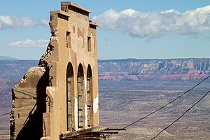 Ruin in Jerome, AZ. All that's left of this bu...