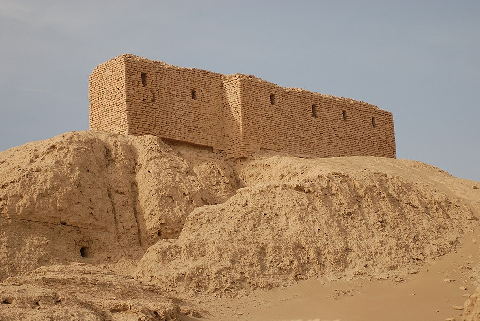 Ruins from a temple in Naffur