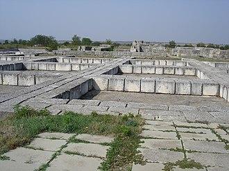 Pliska - Image: Ruins in Pliska Palace 9
