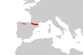 Description de l'image Rupicapra pyrenaica range Map.png.