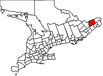 Russell (Ontario electoral district) - Location of Russell in Ontario in 1867