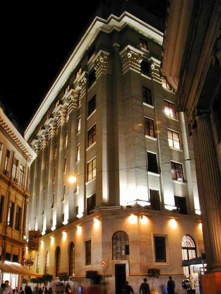 B3 is the largest stock exchange in Latin America Sao Paulo Stock Exchange Building.jpg